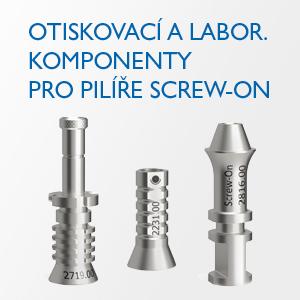 Otiskovací a labor. komponenty pro pilíře Screw-On
